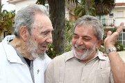 Imagem: Alegria e festa - Lula e Fidel Castro